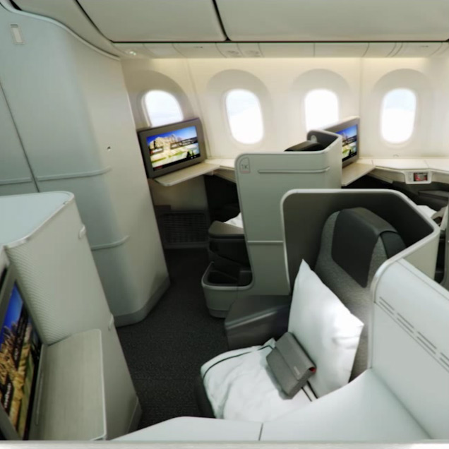 Air canada 787 dreamliner for Interieur avion air canada