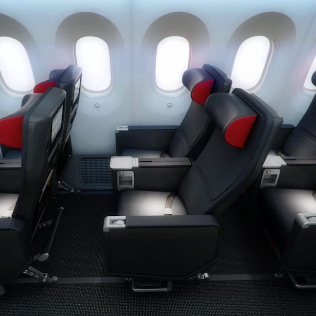 Enjoy More Space in Premium Economy