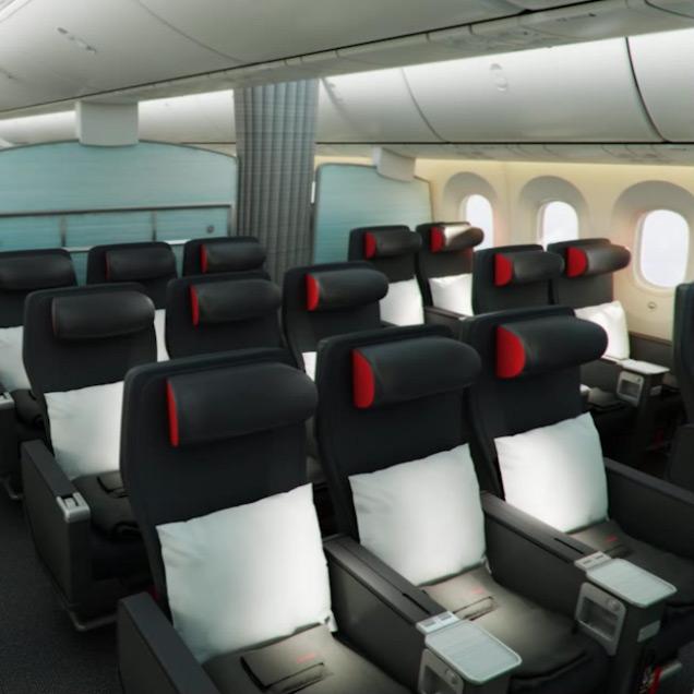 Air canada 787 dreamliner for Cabine in delhi la